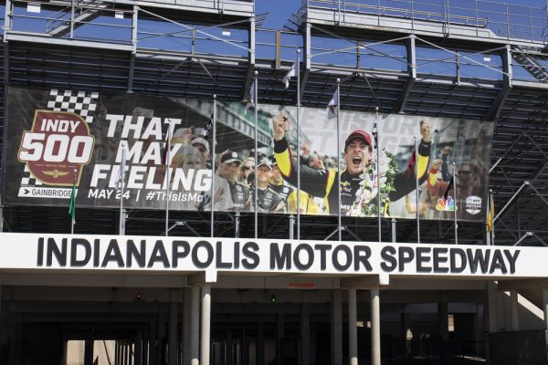 Indianapolis - Circa March 2020: Gate Two Entrance at Indianapolis Motor Speedway. IMS Prepares for the annual running of the Indy 500.