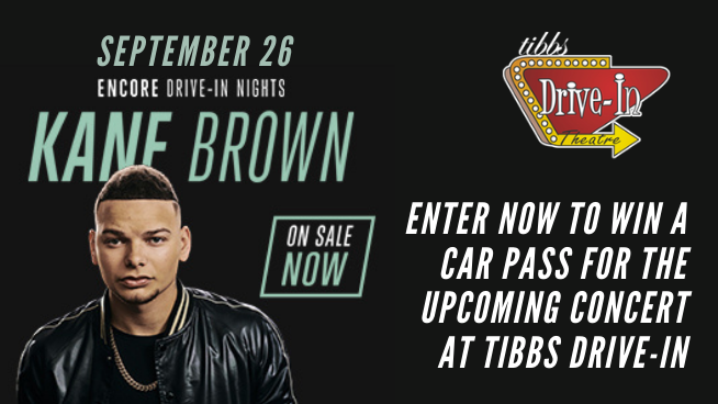 Win A Car Pass To See Kane Brown At Tibbs Drive-In!