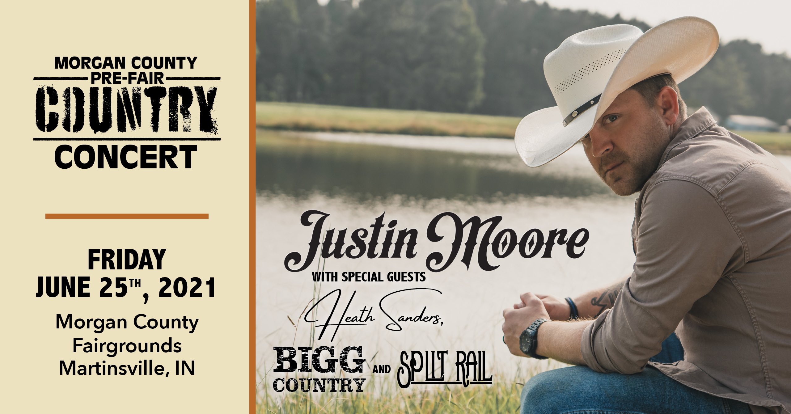 June 25 – The Morgan County Pre-Fair Country Concert Starring Justin Moore