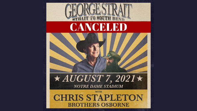 August 7 – George Strait CANCELED