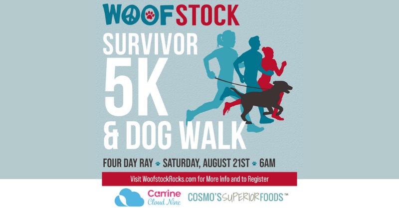 August 21 – Woofstock Survivor 5K & Dog Walk