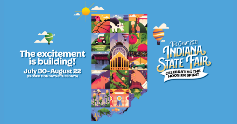 July 30—August 22 – The Indiana State Fair