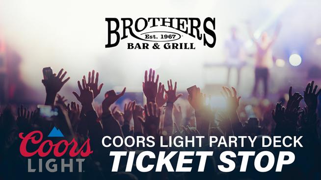October 8 – Dierks Bentley Coors Light Party Deck Ticket Stop