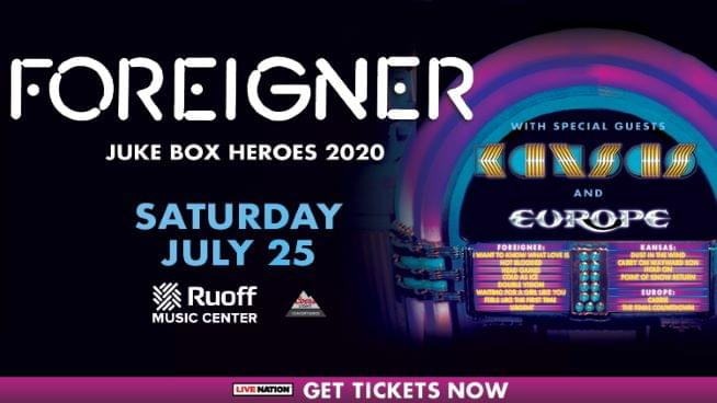 July 25 – Foreigner, Kansas & Europe