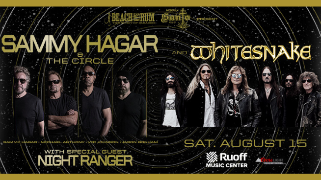August 15 – Sammy Hagar & Whitesnake