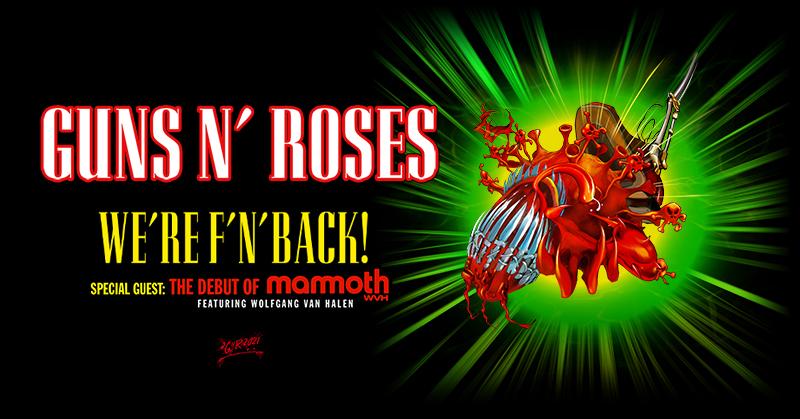 September 8 – Guns N' Roses NEW DATE