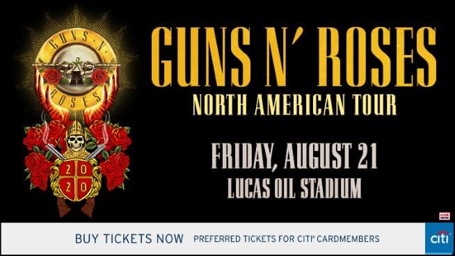 July 18 – Guns N' Roses POSTPONED