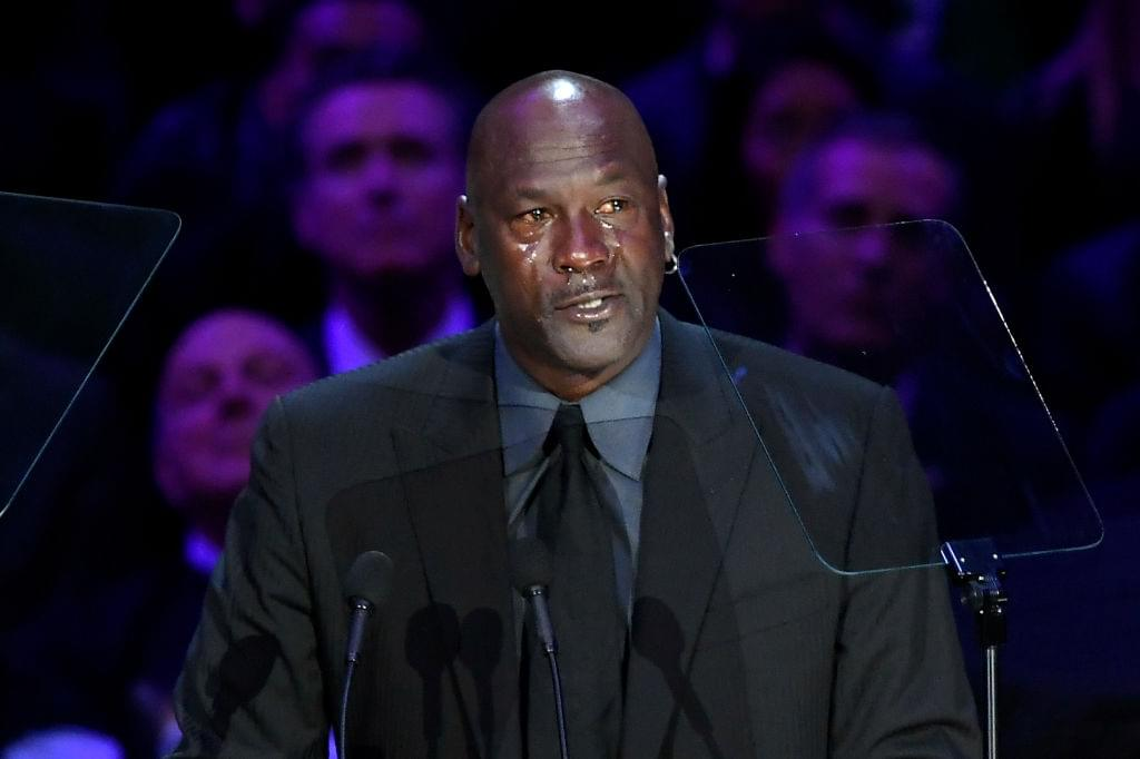 Michael Jordan & Shaq Overcome With Emotion During Kobe Bryant Memorial
