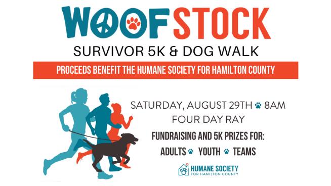 August 29 – Woofstock Survivor 5K And Dog Walk
