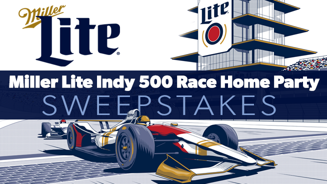 Miller Lite Indy 500 Race Home Party Sweepstakes