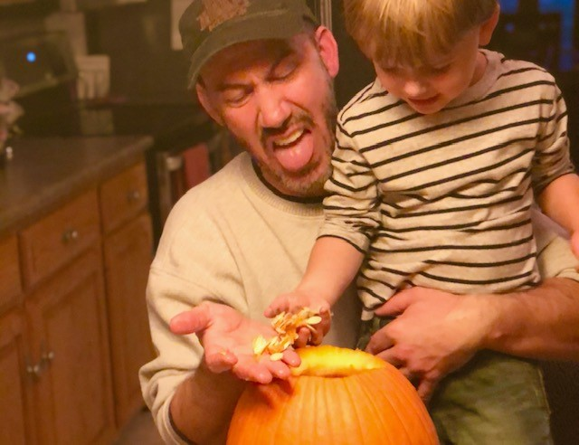 Great Halloween Life Hack Using A Drill & A Beater To Clean Out Your Pumpkin!