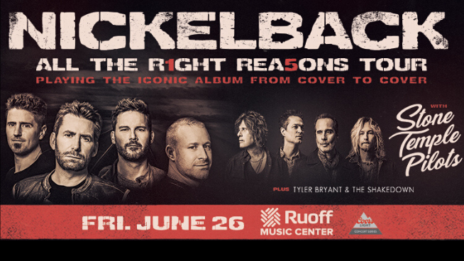Nickelback & Stone Temple Pilots – June 26 CANCELLED