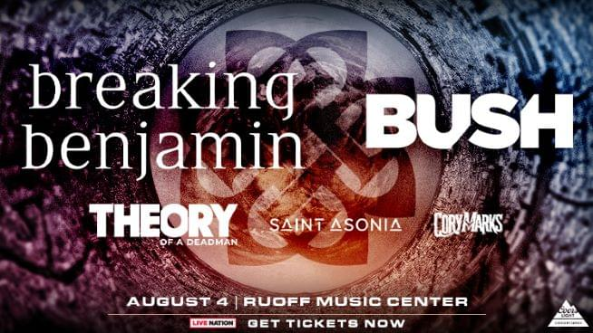 August 4 – Breaking Benjamin CANCELLED