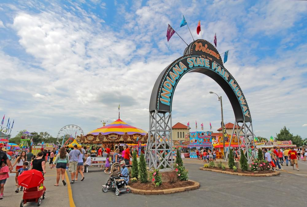 Entrance to the Midway at the Indiana State Fair
