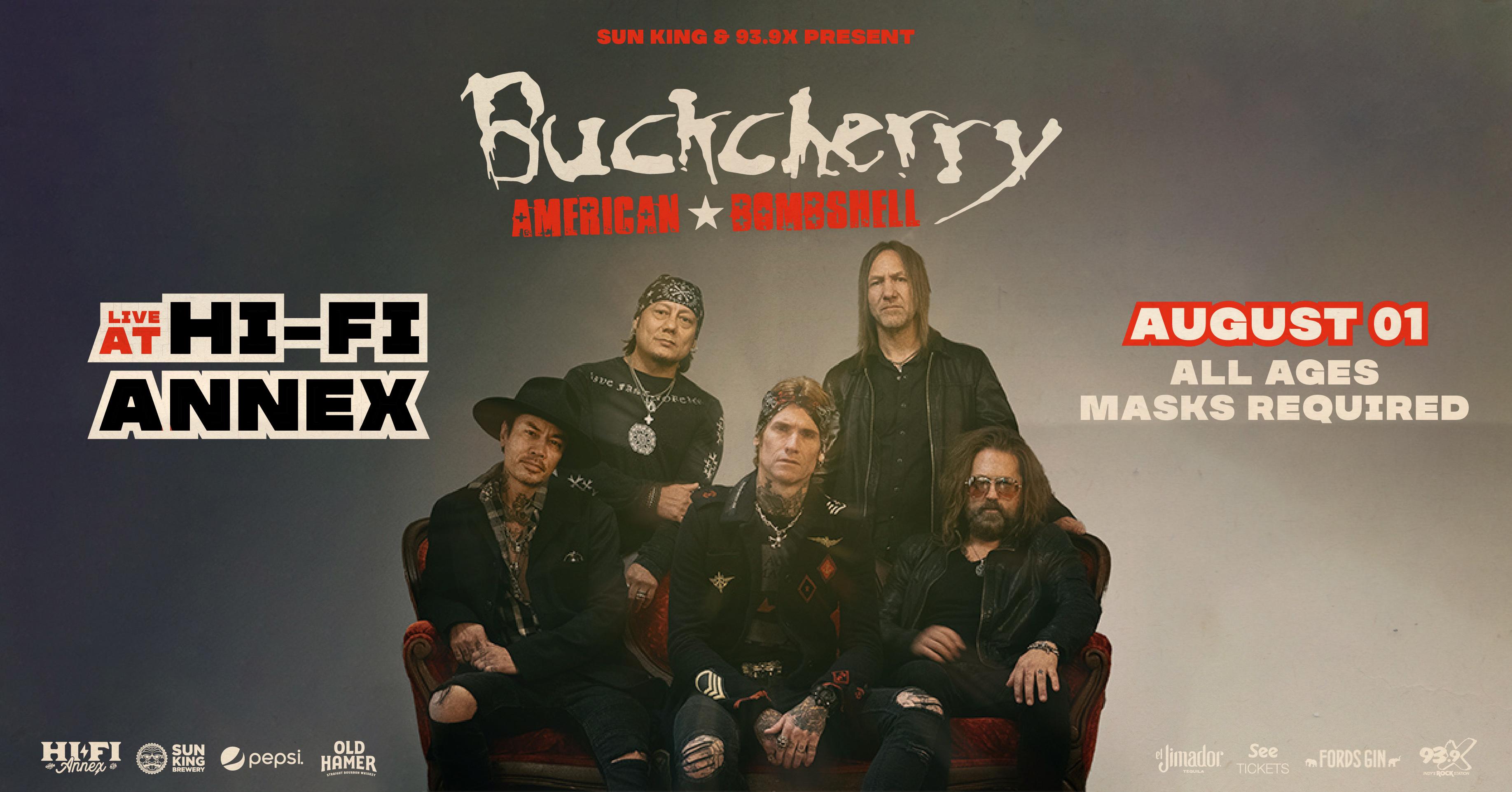 August 1 – Buckcherry