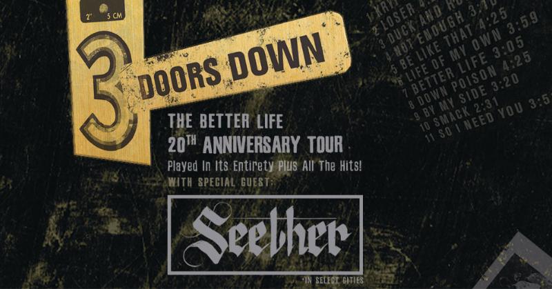 August 6 – 3 Doors Down & Seether