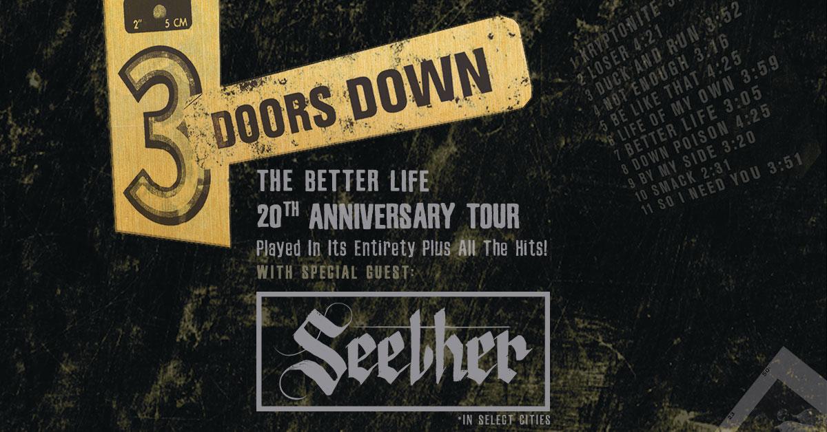 Enter To Win 3 Doors Down Tickets