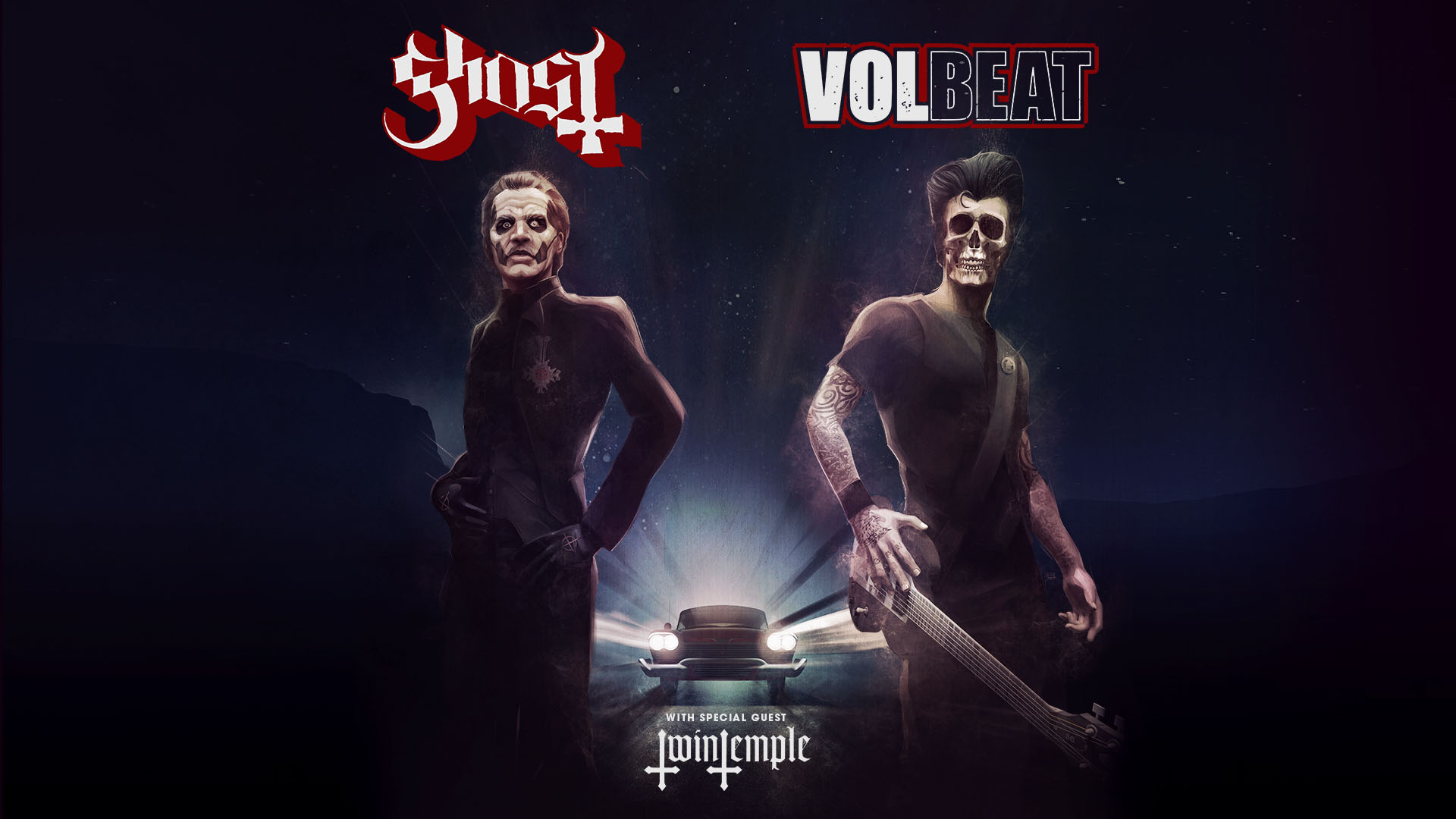 February 19 – Ghost & Volbeat