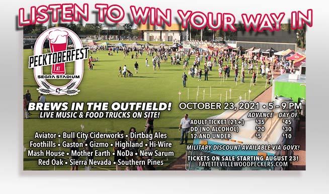Win tickets to Pecktoberfest!