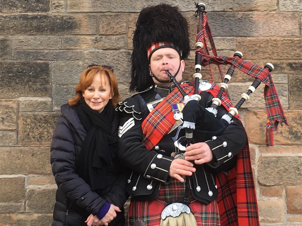 Reba Plays Tourist During Her Trip to Scotland and London for C2C Festival