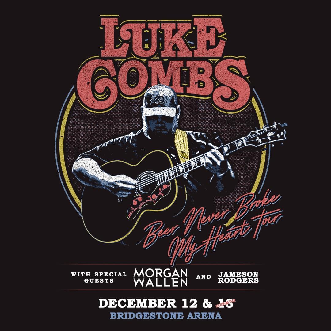 "Luke Combs – ""Beer Never Broke My Heart"" Tour – 2nd Show Added!"