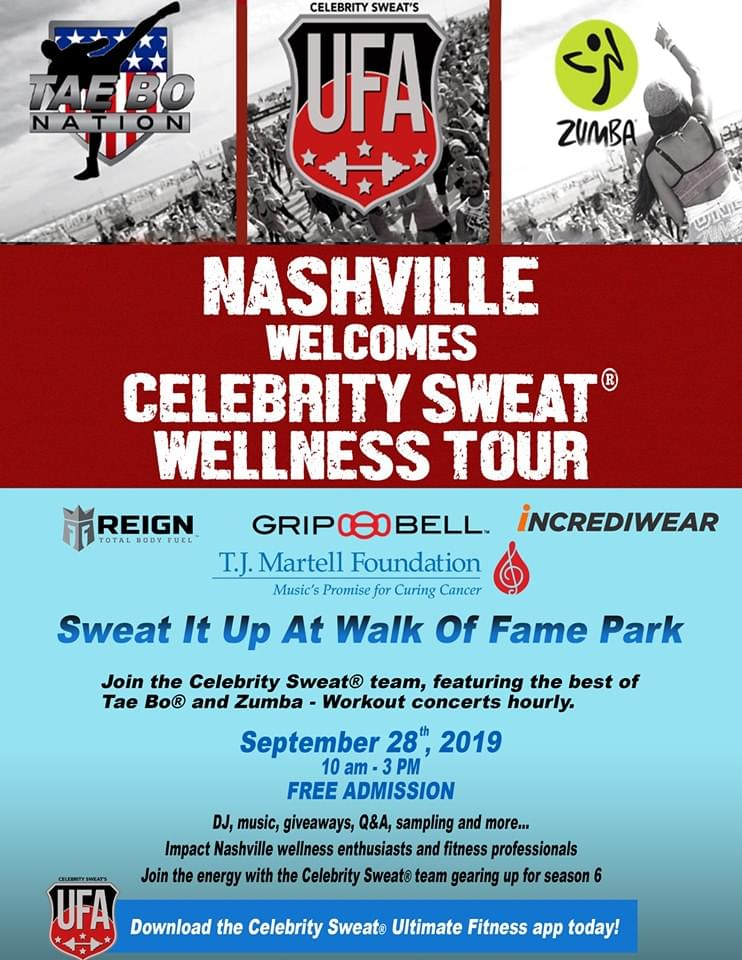 Celebrity Sweat Wellness Tour – Nashville