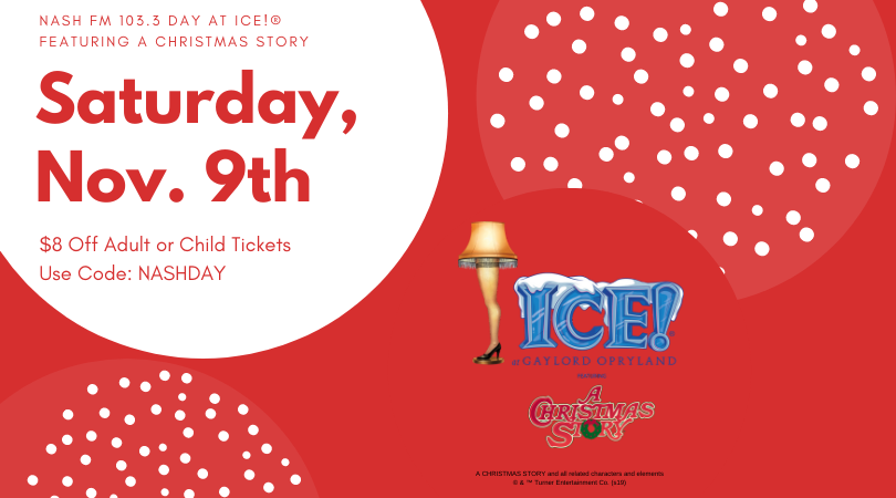 Saturday is NASH Day at ICE! featuring A Christmas Story!