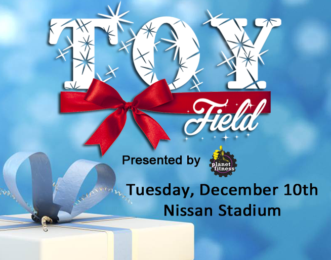 Toy Field Presented by Planet Fitness is Tuesday, December 10th!