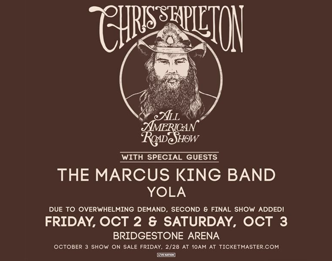 "Chris Stapleton's ""All American Road Show"" Tour"