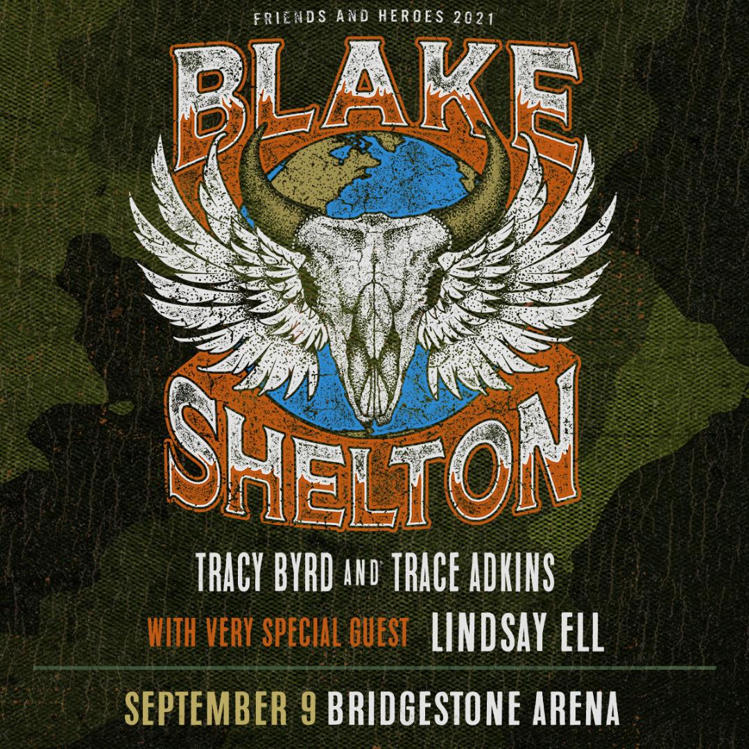 On Sale Now: Blake Shelton at the Bridgestone Arena!