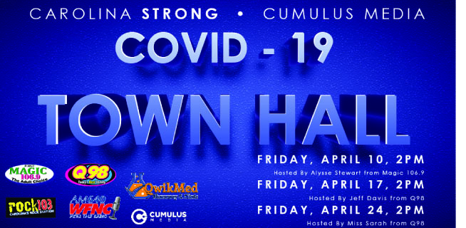 COVID-19 TOWN HALL Friday 2pm