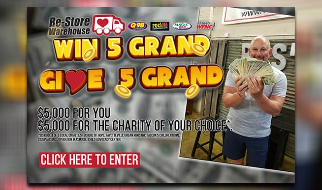 Win 5 Grand, Give 5 Grand with The Re-Store Warehouse