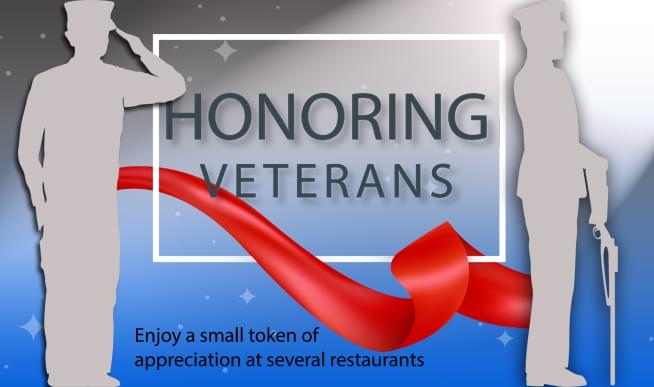 Are you a Veteran? You can get free meals on Monday