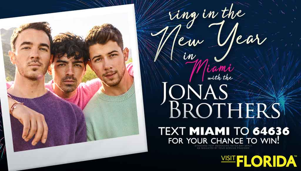 Ring in the New Year in Miami with the Jonas Brothers