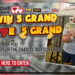 Win 5 Grand, Give 5 Grand with The Re-Store Warehouse!