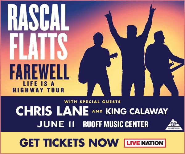 Rascal Flatts Thursday, June 11th Ruoff Music Center