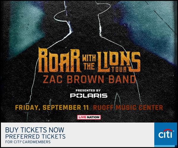 Zac Brown Band Friday, September 11th Ruoff Music Center