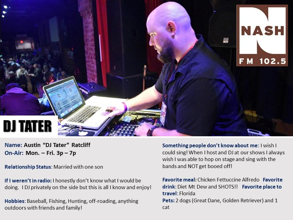 """Austin """"DJ Tater"""" Ratcliff"""