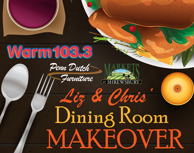 Listen to Win Liz & Chris' Dining Room Makeover!