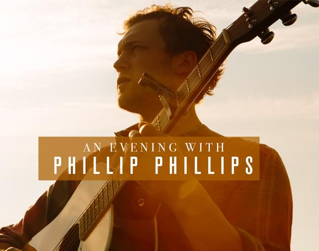 Win Tickets for an Evening with Phillip Phillips at the Whitaker Center on January 21st