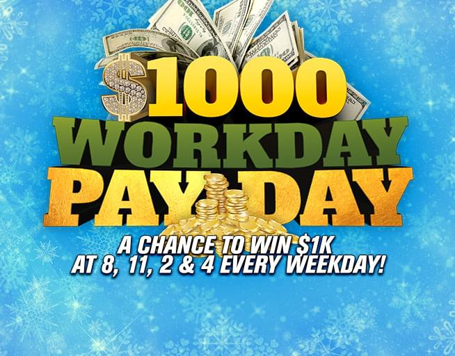 Win $1000 with the Workday Payday