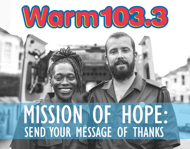 WARM 103.3 Mission of Hope: Send a Message of Thanks