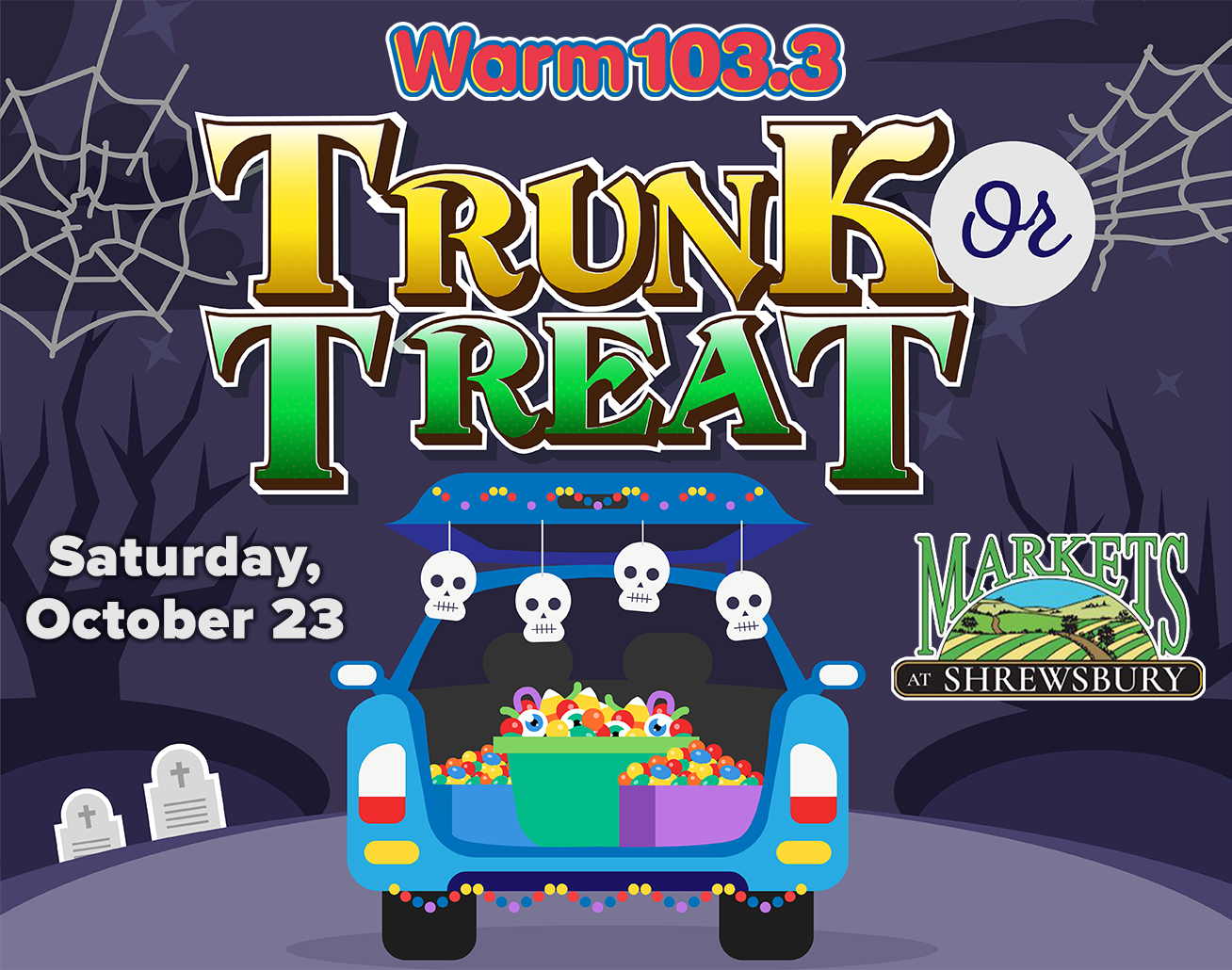 Register for Trunk or Treat at the Markets at Shrewsbury on October 23rd