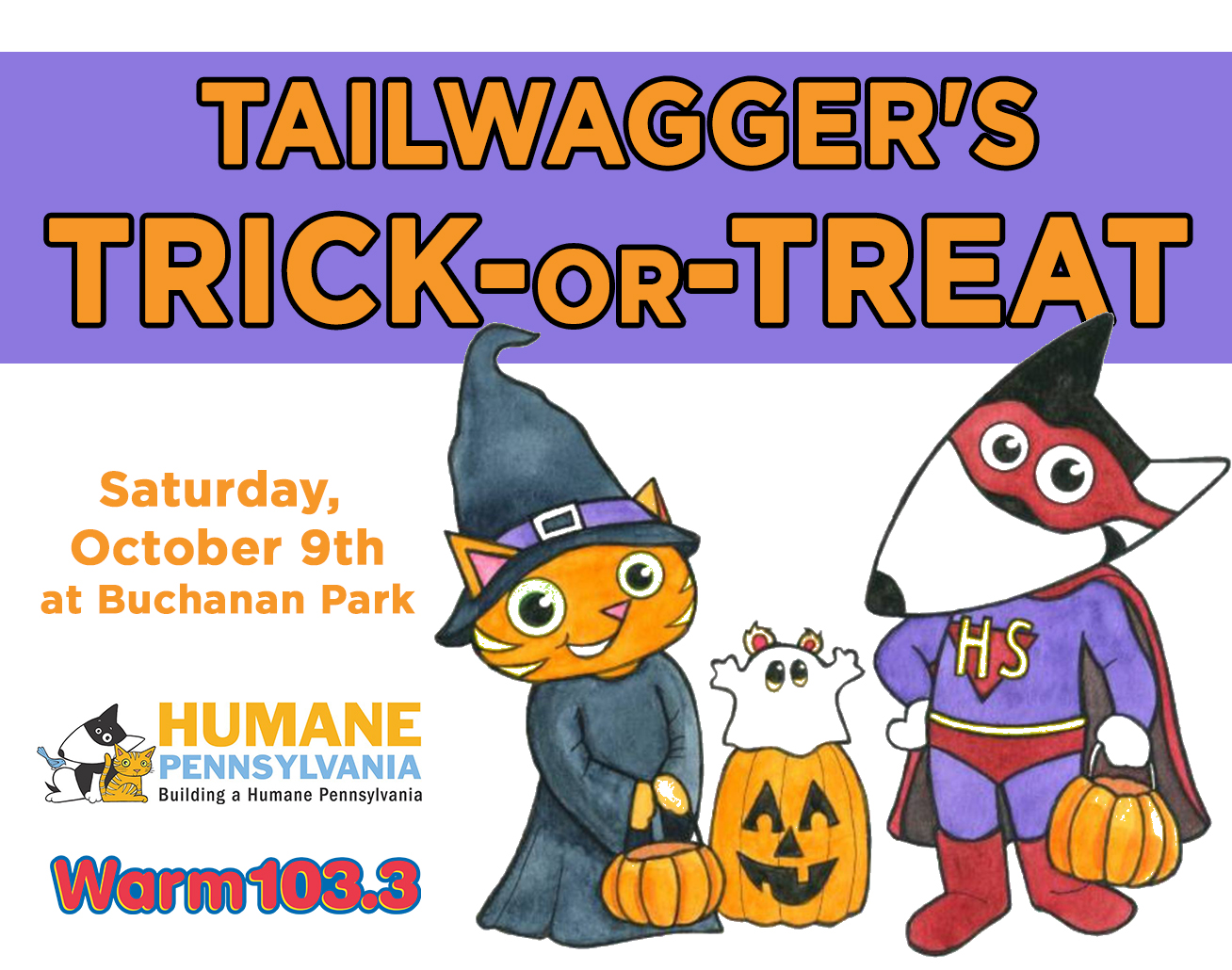 Tailwagger's Trick-or-Treat with the Humane League of Lancaster