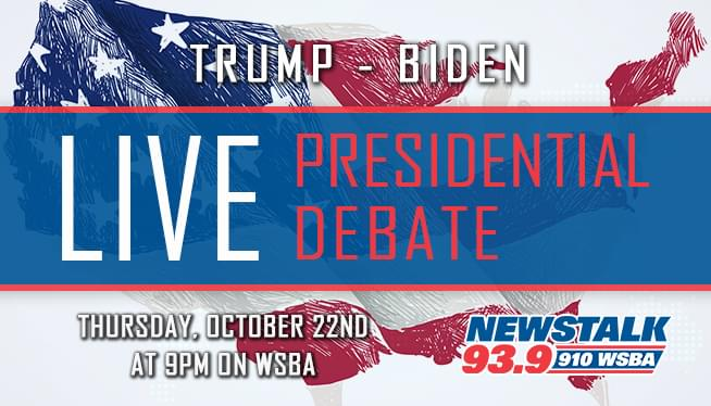 Listen to the final Presidential Debate – Thursday at 9pm on WSBA