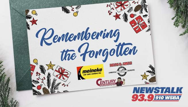 Help us Remember the Forgotten this Christmas