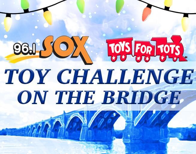 96.1 SOX Toy Challenge on the Bridge with Santa D