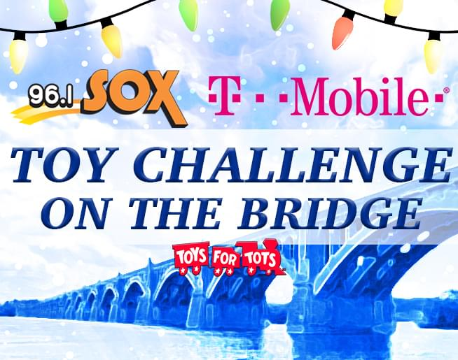 96.1 SOX Toy Challenge on the Bridge sponsored by T-Mobile