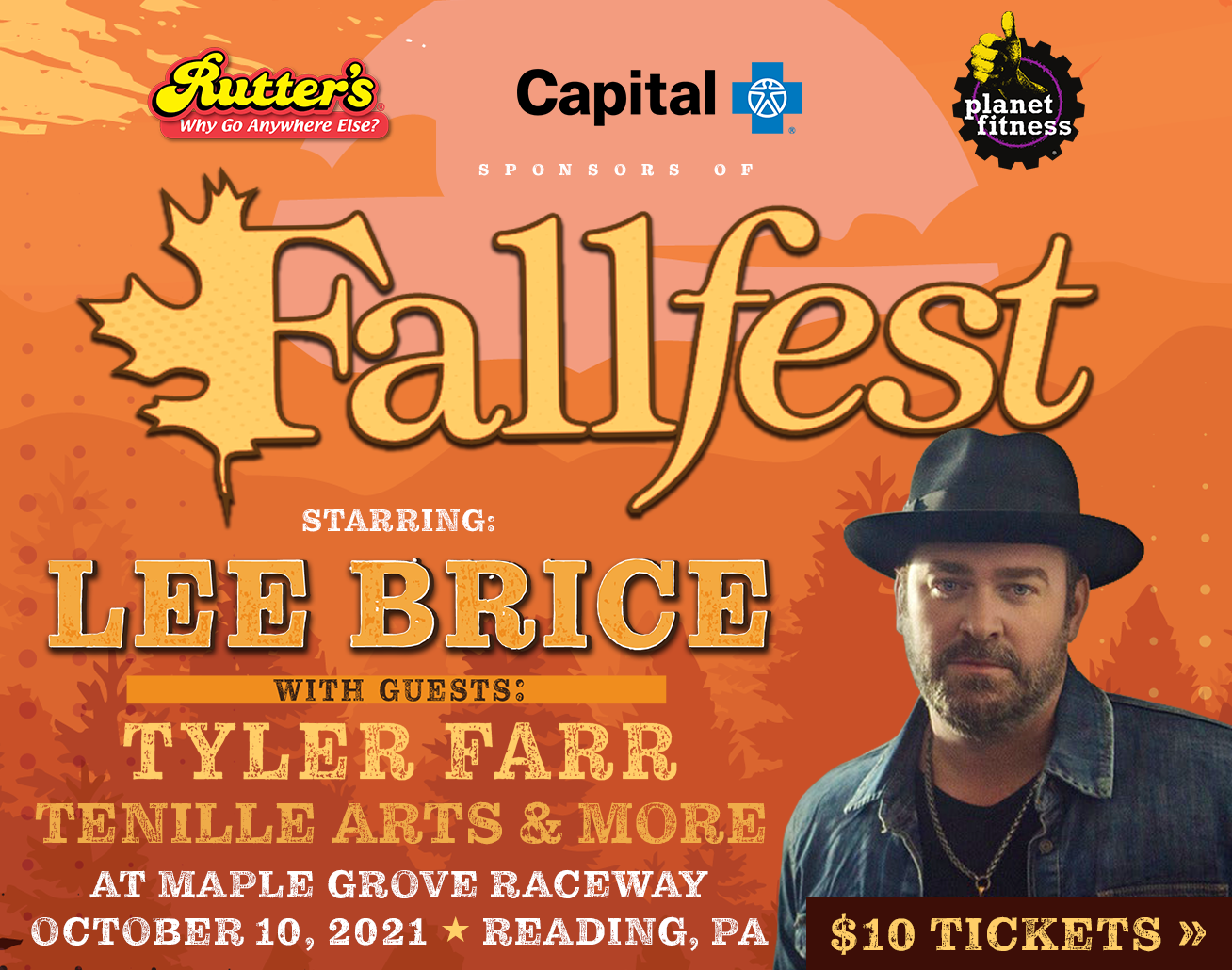 Fallfest Country Music Festival on October 10th at Maple Grove Raceway