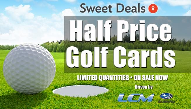 Half-Price Golf Cards: On Sale Now